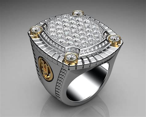 unique mens ring paved signet sterling silver and gold with white diamonds by proclamation