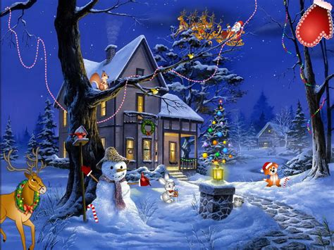 christmas fantasy holiday screensaver fullscreensaverscom