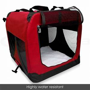Pet dog soft crate cat portable carrier travel cage kennel for Portable travel dog crate