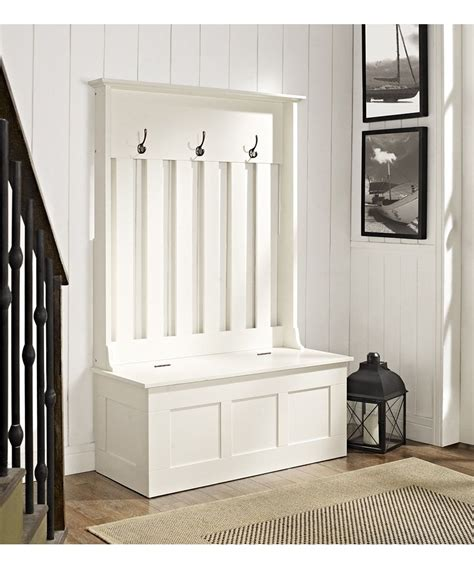 White Entry Way Bench - white ogden entryway tree storage bench for the