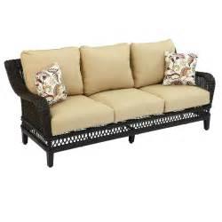 home depot sofa hton bay woodbury patio sofa with textured sand cushion