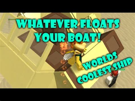 Whatever Floats Your Boat Money Hack by Roblox Adventure Build A Boat To Survive