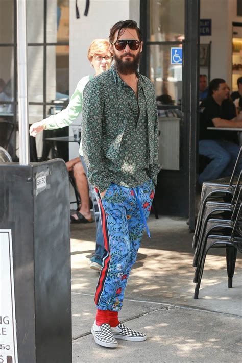 method actor jared leto dresses  quirky mismatched clothes
