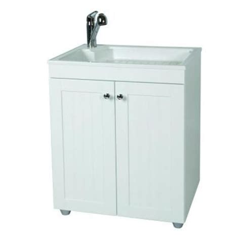 home depot bathroom sink base cabinets glacier bay 27 in w base cabinet with abs sink in country