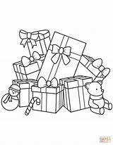 Coloring Gifts Presents Gift Bear Teddy Printable Drawing Sheets sketch template