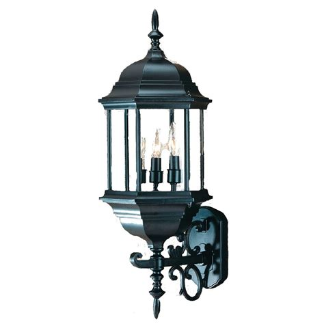 acclaim lighting madison 26 in h matte black outdoor wall