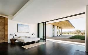 pierre et bois dans une maison moderne californienne With parquet moderne design