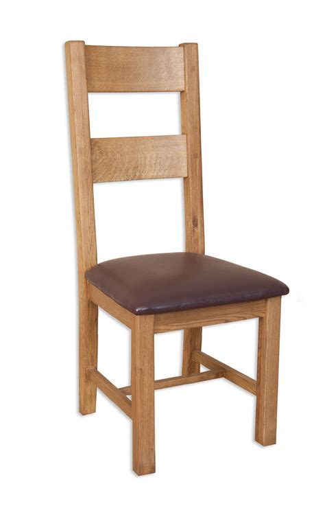 hton country oak ladder back dining chairs pair