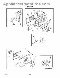 Parts For Electrolux Ew23cs65gs1  Controls Parts