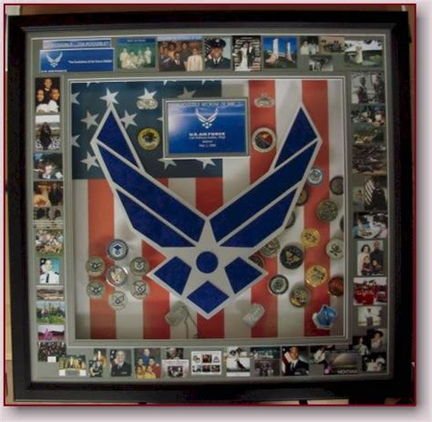 images  usaf shadow box  pinterest coins