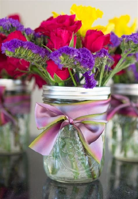 mason jar floral arrangement ideas