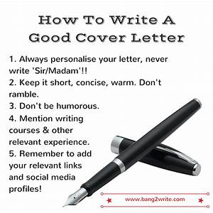 an effective cover letters jianbochencom write a great With keys to writing a good cover letter