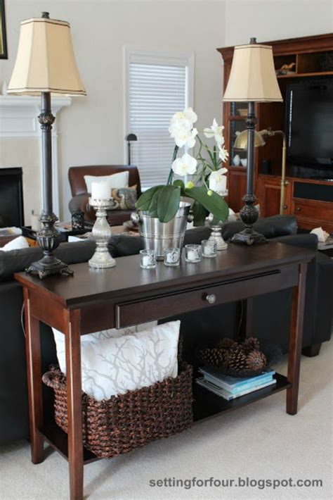 Decorating Sofa Table Behind Couch Decorating Console. Tops For Desks. Computer Desk Mod. Hotel Front Desk Training. Round Dining Tables For 6. Grey Table Runners. Desk Top Design. Multi Drawer Dresser. Black Contemporary Coffee Table