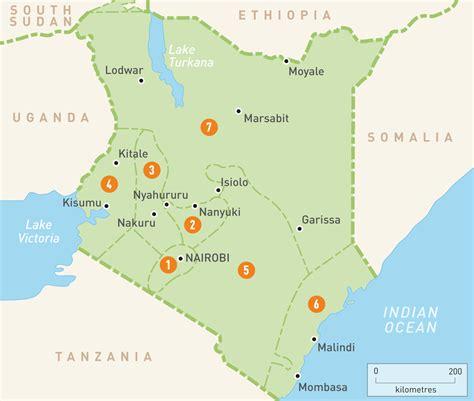 map  kenya kenya regions rough guides
