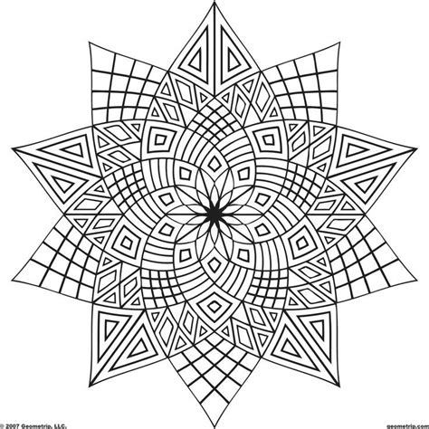Geometric Design Coloring Pages Free Geometric Design Coloring Pages Coloring Home
