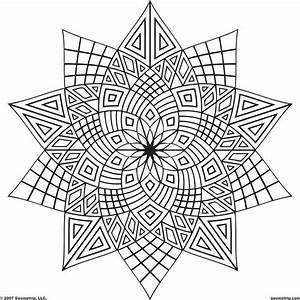 Geometric Patterns Coloring Pages - Coloring Home