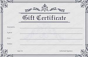 blank gift certificate template word printable calendar With downloadable gift certificate template