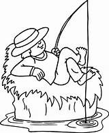 Fishing Boat Cartoon Cliparts Colouring Don sketch template