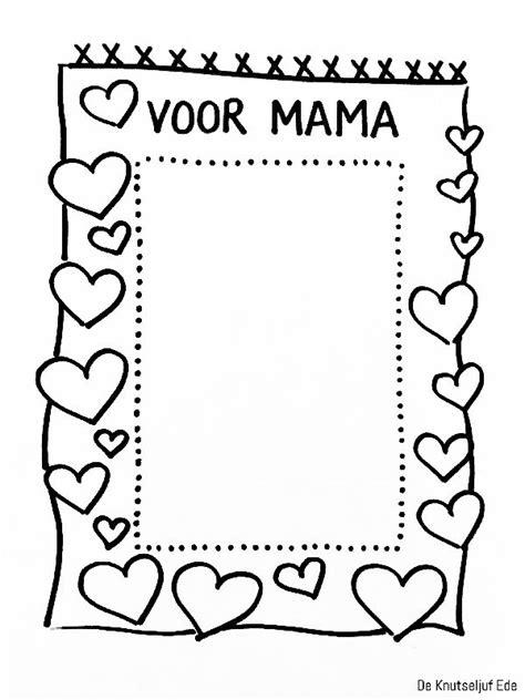 Kleurplaat Moederdag Versje by Kleurplaat Moederdag Met Gedicht