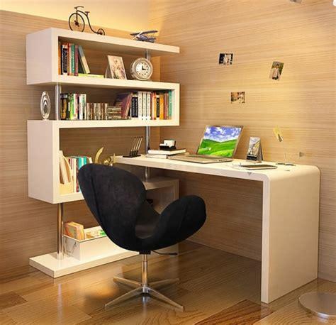 chaise de bureau bois le bureau avec étagère designs créatifs archzine fr