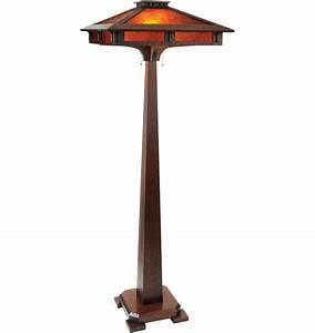 Finding the best arts and crafts floor lamp warisan lighting for Torchiere floor lamp arts and crafts