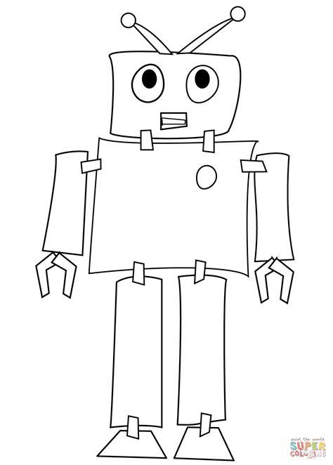 disegni robot da colorare per bambini disegno di robot timido da colorare disegni da colorare