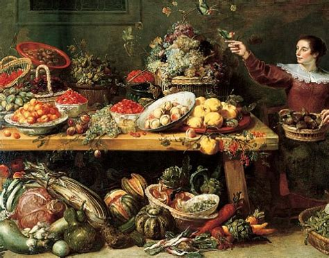17th century cuisine frans snyders still with fruit and vegetables 17th