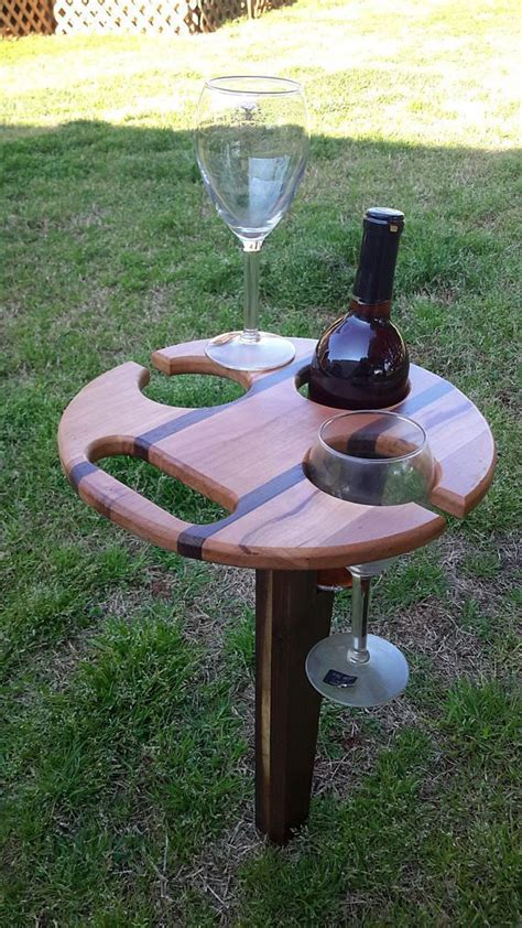 portable folding picnic wine table