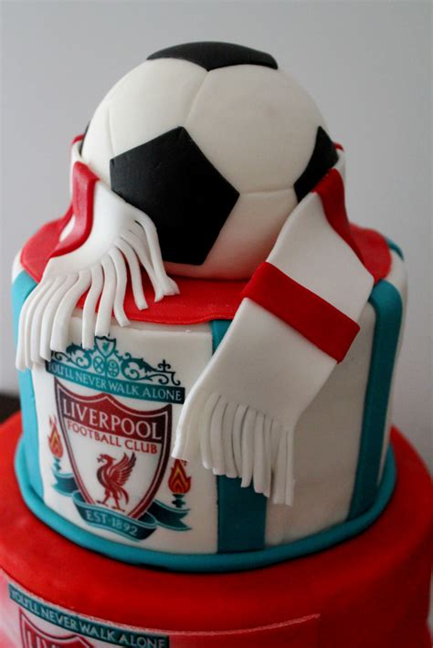 Liverpool Soccer Club 50th Birthday Cake  Marina Carter
