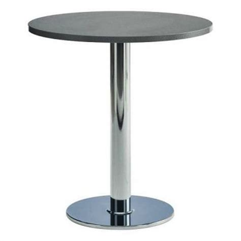 table cuisine ronde pied central table de cuisine ronde stratifiee 75cm pied central
