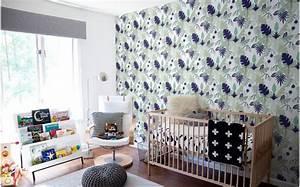 Papier Peint Bébé Garcon : papier peint jungle bleu d coration murale chambre gar on ~ Nature-et-papiers.com Idées de Décoration