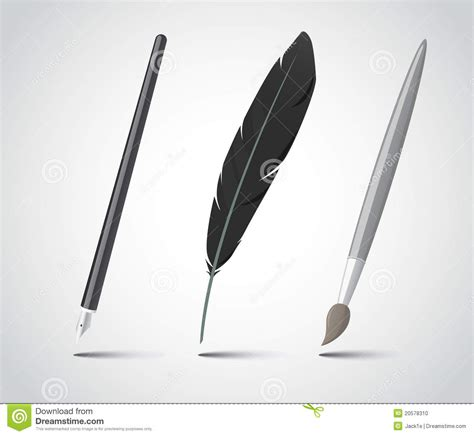 Set Of Writing Tools Stock Photo  Image 20578310