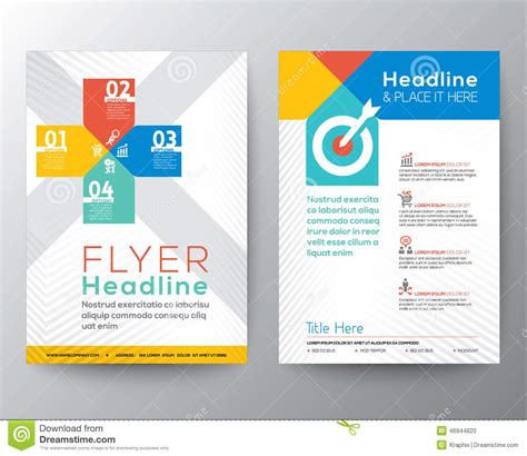 Web Design Brochure Template by Brochure Flyer Graphic Design Layout Vector Template Stock