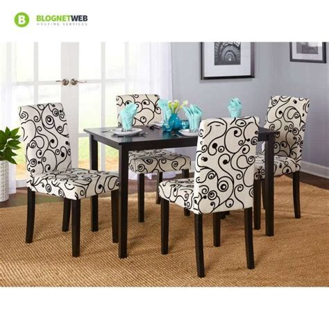 dining room set  piece wood table   upholstered