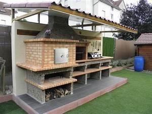 Fabriquer Un Barbecue Avec Un Bidon : four a pain et barbecue en brique avec vier av358f ~ Dallasstarsshop.com Idées de Décoration