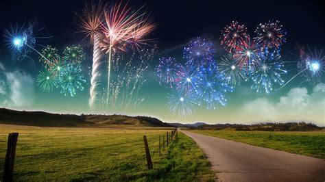 landscapes nature fireworks wallpaper
