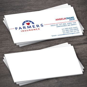 If you would like to have a similar design simply fill up the form and place your order. Farmers Insurance Business Card Template 1-5 - Printing Expressly For You