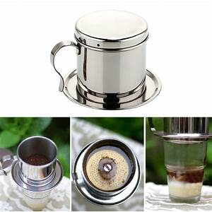 Stainless Steel Drip Coffee Maker Manual Mocha Stovetop