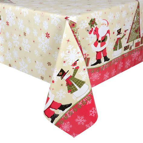 Tisch Eindecken Weihnachten by Santas Pvc Wipe Clean Tablecloth