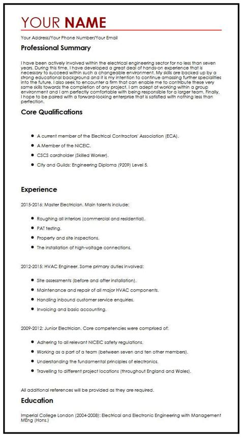 Resume examples see perfect resume samples that get jobs. Free CV Example - MyPerfectCV