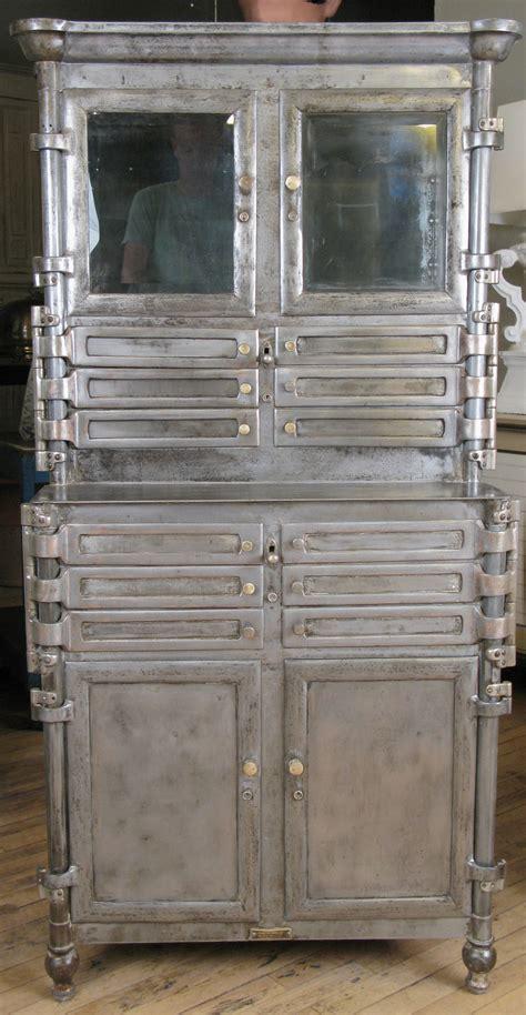 antique steel  glass medical dental cabinet  stdibs