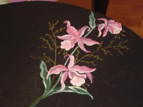 d 233 du motif peint sur la table ronde cr 233 ations peinture multi supports de nanou29 n 176 25455
