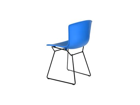 buy the knoll bertoia plastic side chair black base at