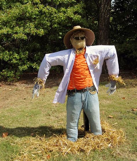 scary ideas for decorations outside yard decoration stuffed scarecrow creative