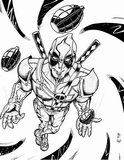 Deadpool Coloring Printable Hero Coloriage Dessin Anime