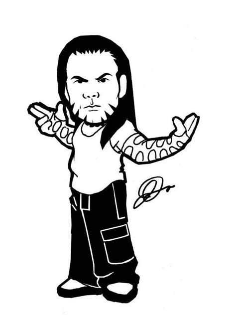 jeff hardy coloring pages  bestofcoloringcom