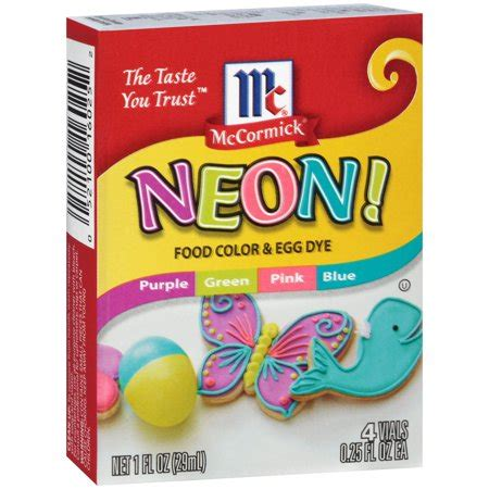 mccormick 174 neon assorted food color 1 fl oz walmart