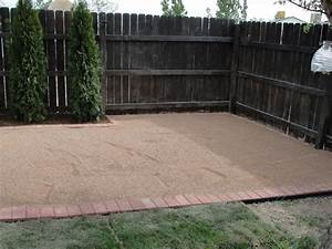 "How to make a pea gravel patio! AKA ""trail mix"" patio"