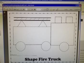shape fire truck fire safety week pre   hayley lane tpt