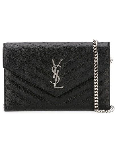 saint laurent chain wallet ysl monogram quilted envelope